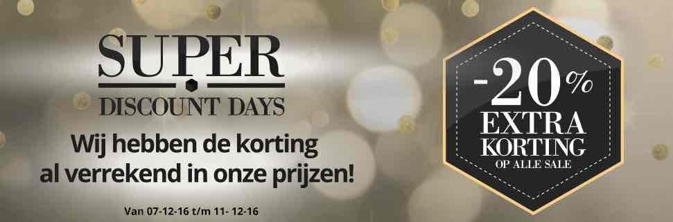 20% extra voordeel op alle saleschoenen! bij Sooco.nl