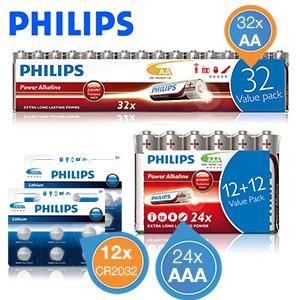 68 Philips PowerLife Alkaline batterijen voor € 22,90 @ iBOOD