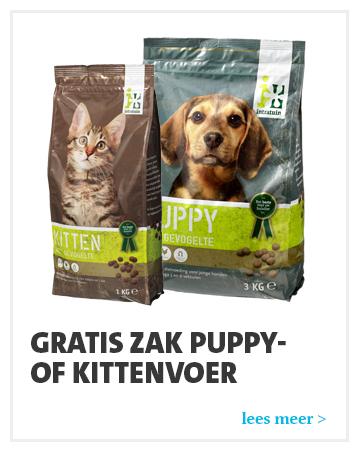 Intratuin: Gratis zak voer voor puppy of kitten