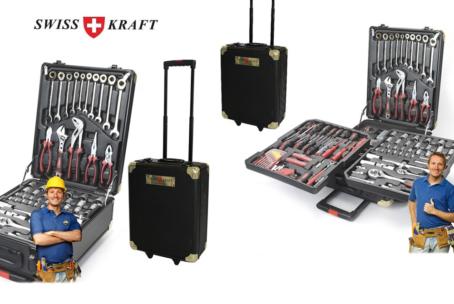 Swiss Kraft Gold Edition 286-delig professionele gereedschapsset in een luxe trolley