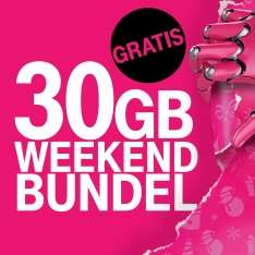 T-mobile: 30gb dit weekend, gratis!