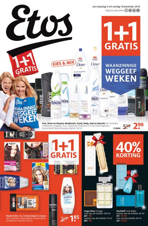 Davidoff Cooll Water Eau de Toilette 30ml /40ml voor €13,50 @ Etos