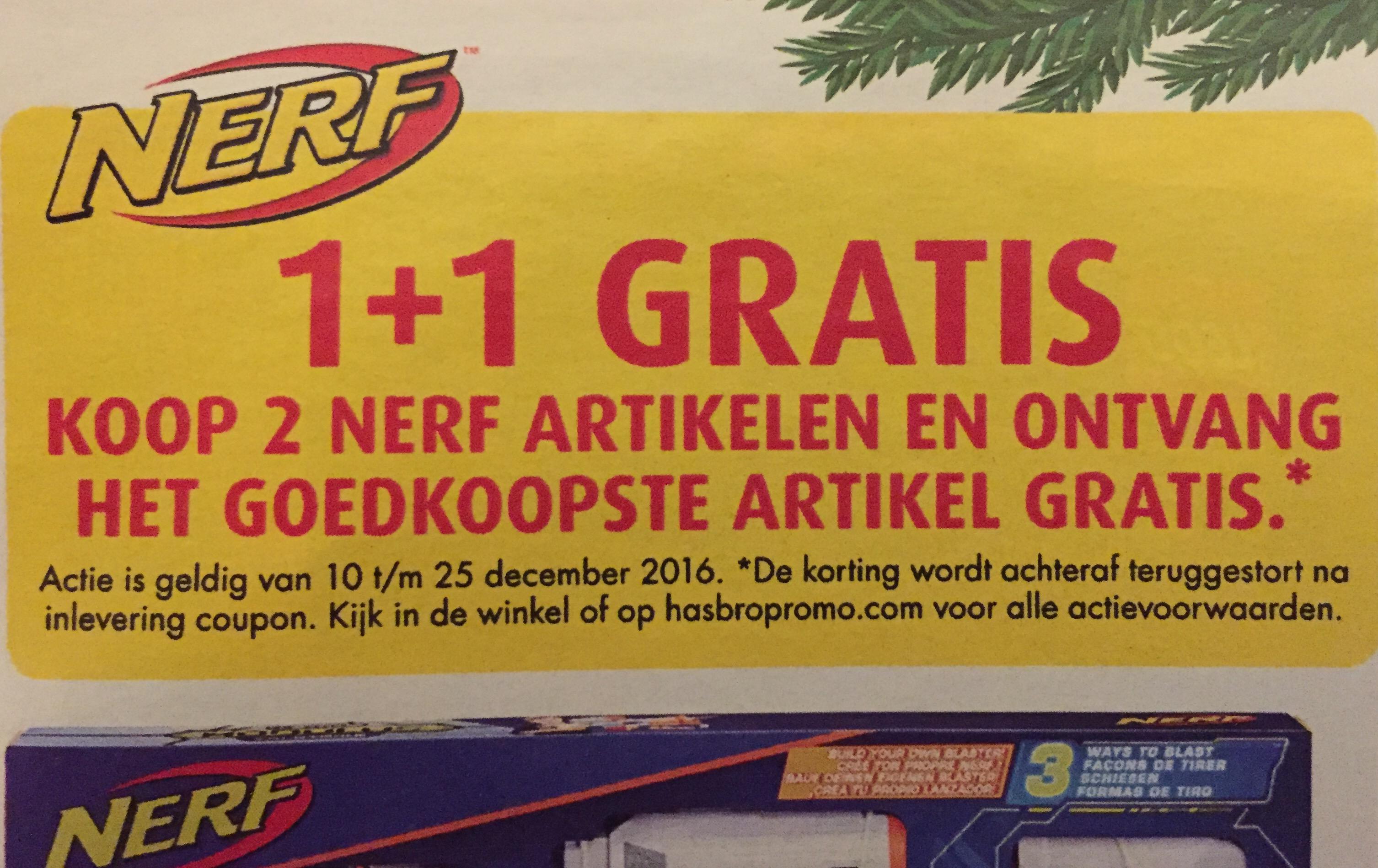 NERF 1+1 gratis @ Bart Smit en Intertoys