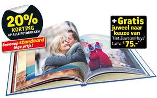 Kruidvat: Large of groter fotoboek + gratis juweel t.w.v. 75 euro