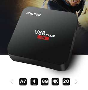 SCISHION V88 Plus Android TV Box voor €28,28 @ Gearbest
