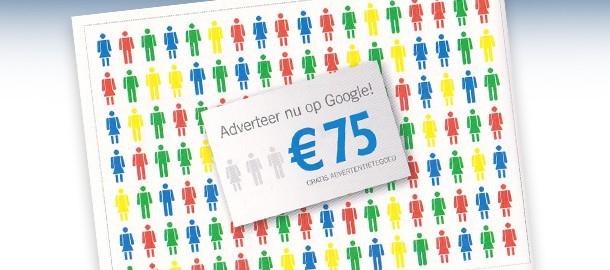 Ontvang gratis €75 advertentietegoed bij besteding van €25 door code @ Google Adwords