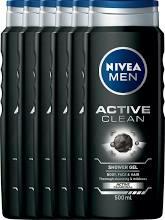 6 x Nivea douchegel Active Clean for Men € 4.65 @ Amazon.de