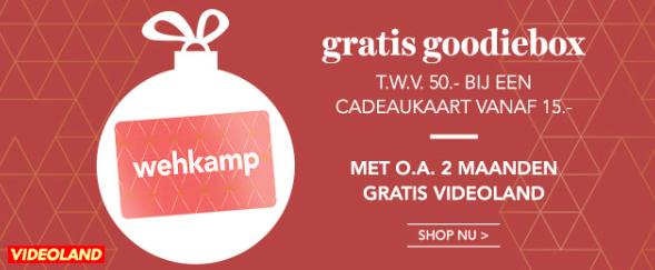 Gratis Goodiebox t.w.v. €50 bij €15 euro cadeaukaart @ Wehkamp