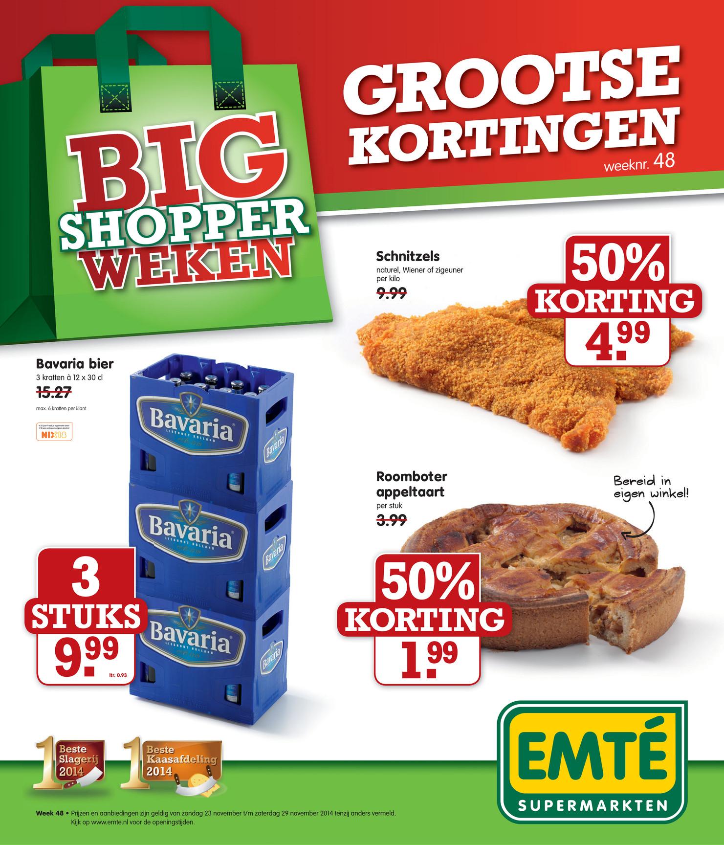 3 kratten Bavaria voor €9,99 @ Emté