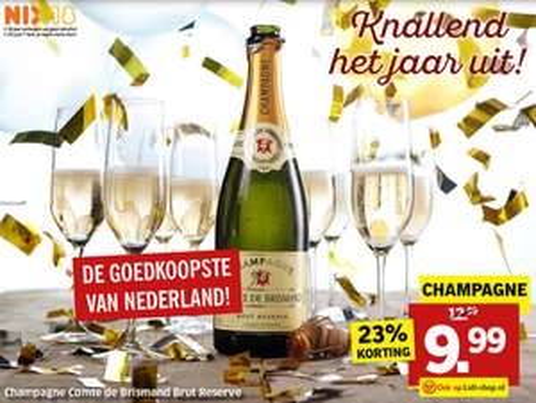 Champagne Comte de Brismand Brut Reserve slechts € 9,99 @ Lidl