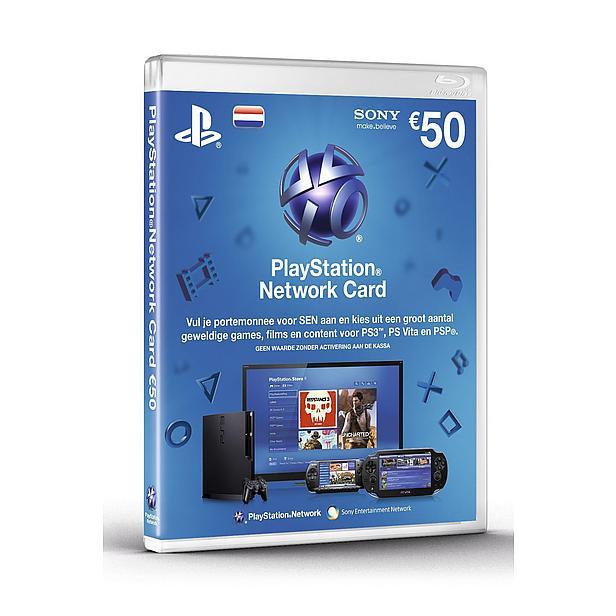 Playstation Network voucher t.w.v. €50 voor €41,95 @ Wehkamp