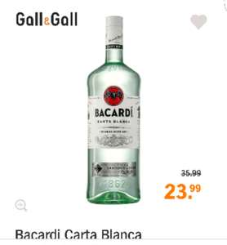 Bacardi 1.5 liter voor 23.99