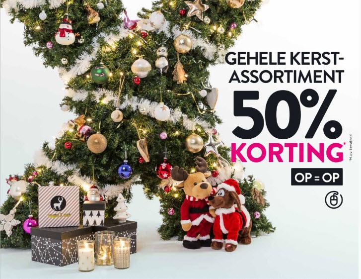 50% korting op gehele kerstassortiment* @ Xenos