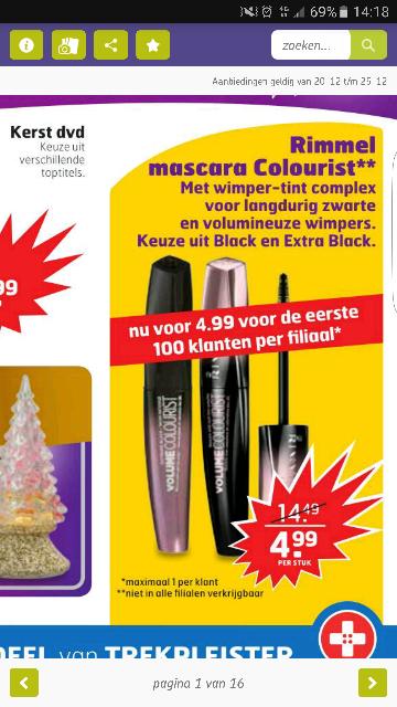 Rimmel colourist mascara voor €4,99 @ trekpleister