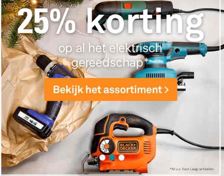 25% korting op al het elektrisch gereedschap @karwei