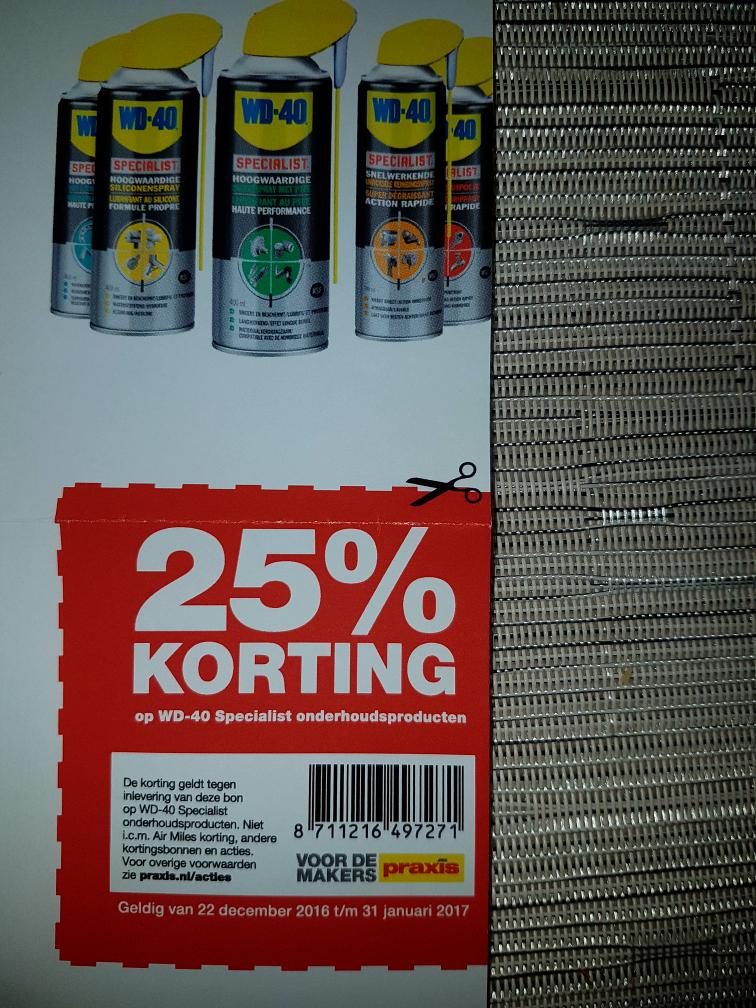 25% Korting op WD-40 Producten bij Praxis