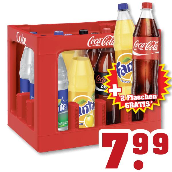 Coca Cola/Fanta/Sprite 12+2 gratis @ Trinkgut Duitsland