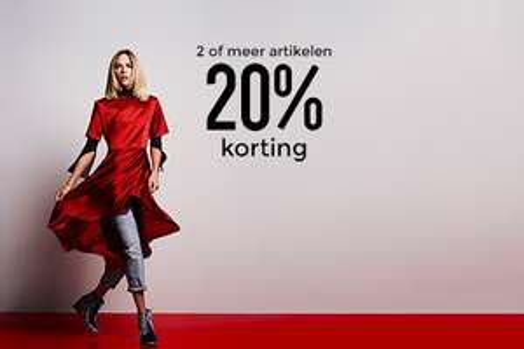 Bij 2 items of meer 20% (extra) korting - ook op sale (va €1) @ Sacha