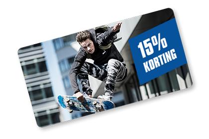 15% korting bij Aktiesport
