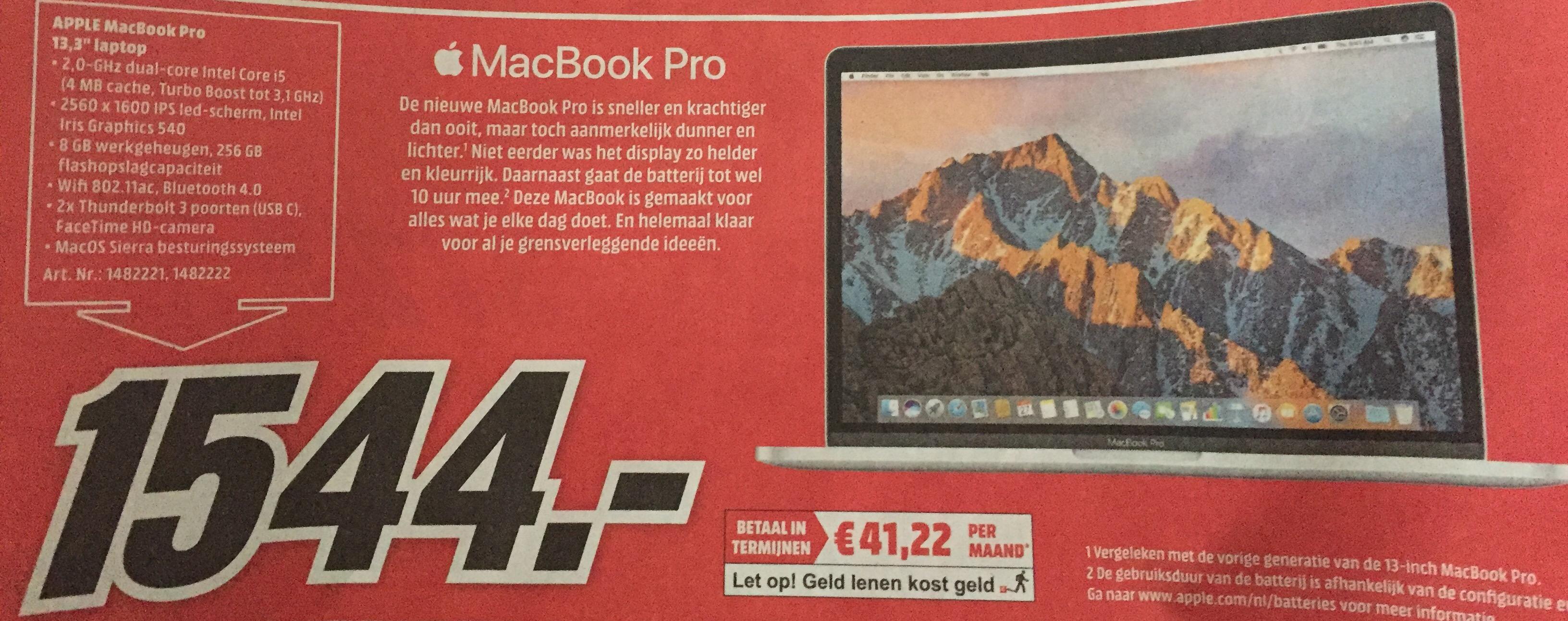 [Macbook Pro] Late 2016 Model zonder Touchbar MediaMarkt