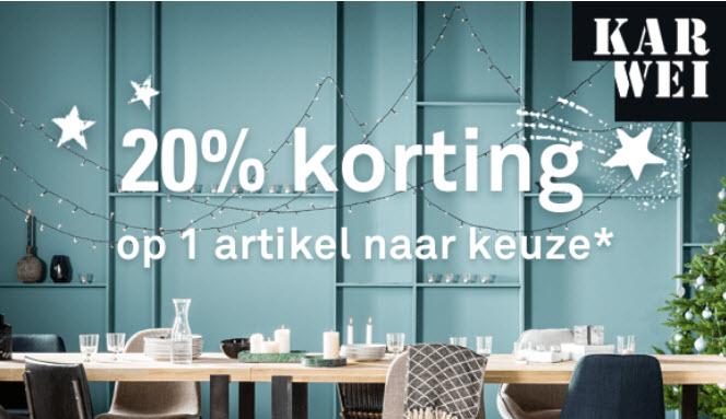 20% korting op een artikel naar keuze @ Karwei