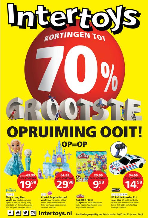 Korting tot 70% @ Intertoys & Bart Smit