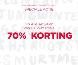 70% korting op alles in de wintersale @ Mango Outlet