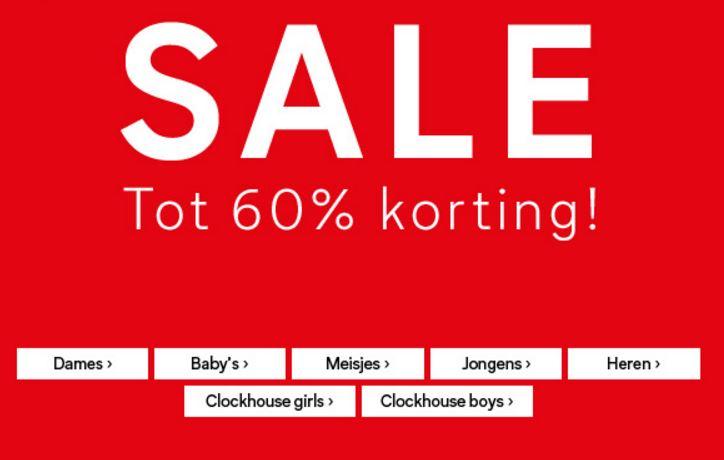 Sale tot -60% + €10 extra korting (va €40) @ C&A