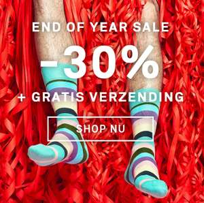 30% korting en gratis verzending bij Happy Socks