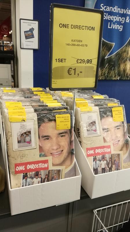 One Direction dekbedovertrek 140x200 voor €1 @ Jysk (Leeuwarden)