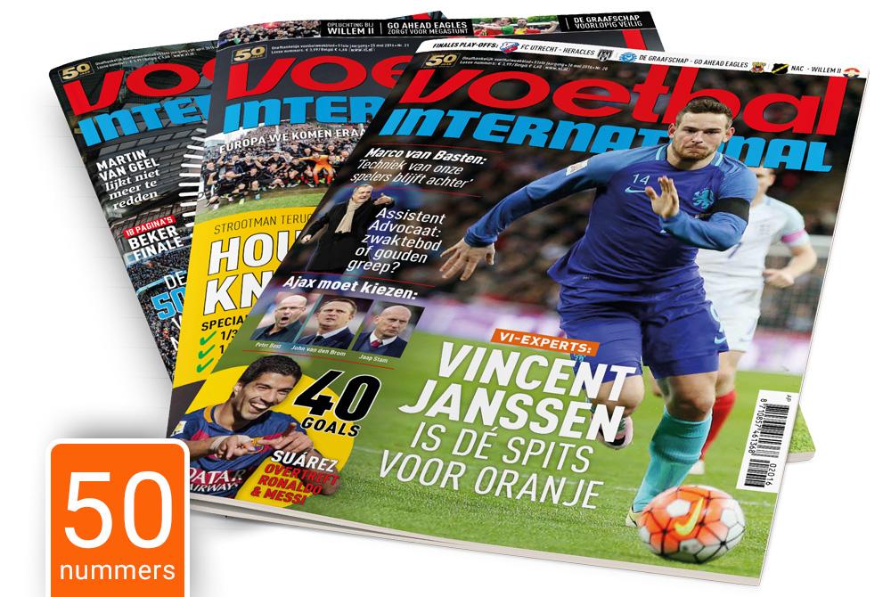 50x voetbal international (jaar abonnement) voor slechts  € 50,-