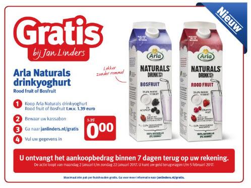 Probeer GRATIS Arla Naturals drinkyoghurt @ Jan Linders