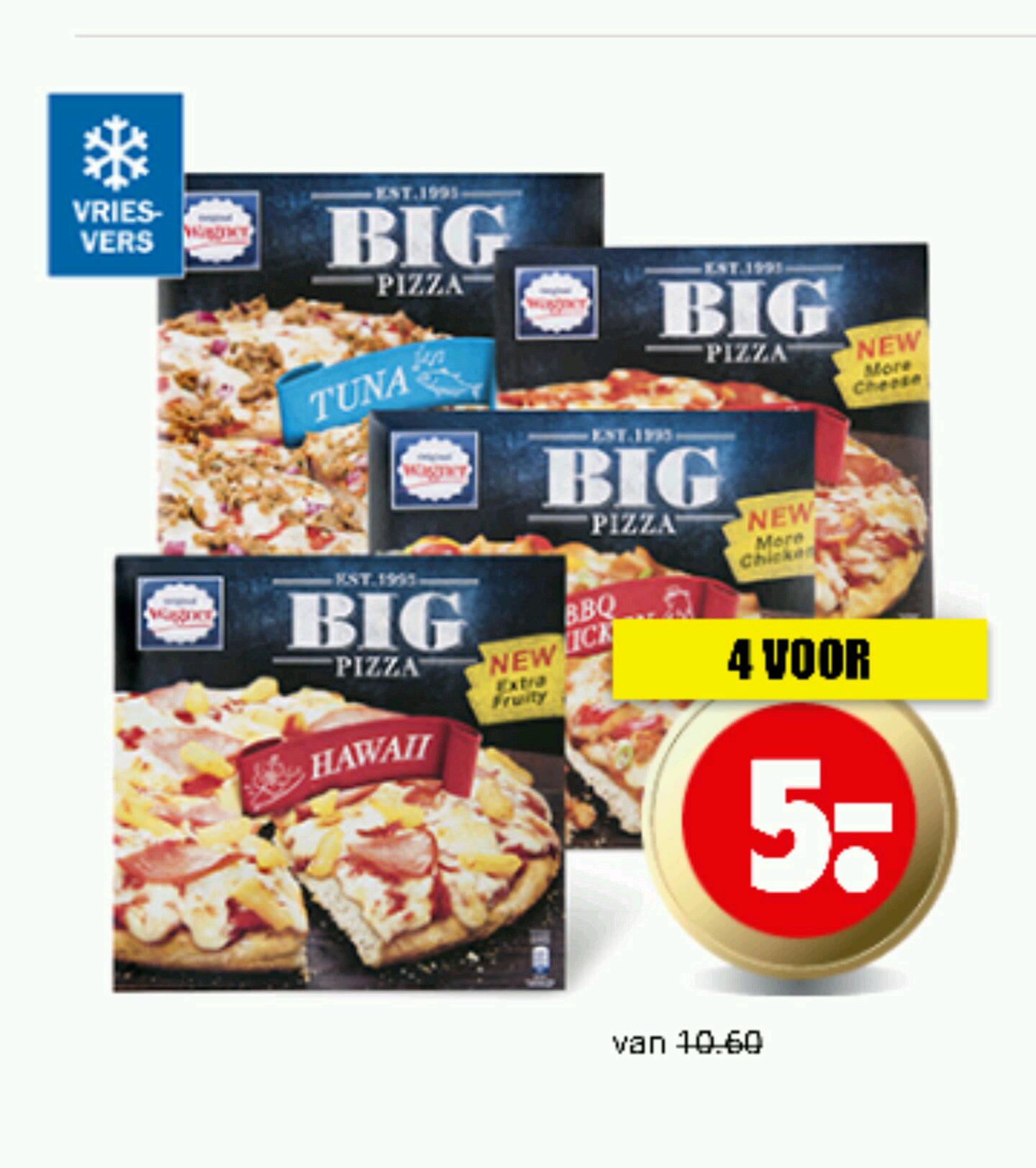 Wagner Big Pizza 4 voor €5 @ Dirk