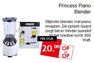 Princess Piano Blender voor 20,- @ Dekamarkt