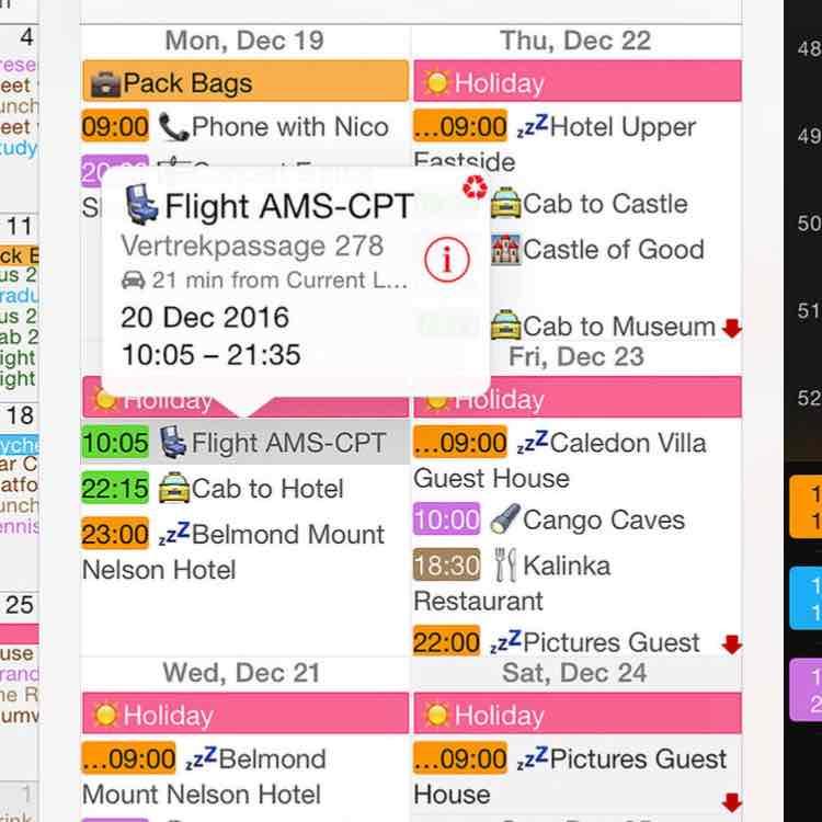 Week calendar voor iOS nu gratis in de app store