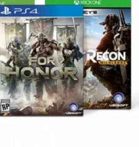 For Honor of Ghost Recon - Wildlands (PS4/ONE) voor €35,95 + 1.800 rentepunten @ ING