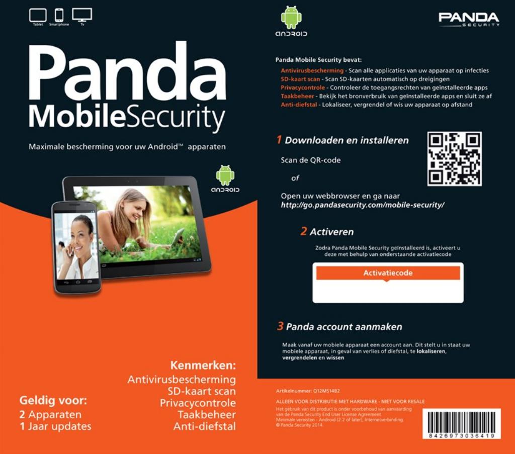 Panda Mobile Security 2014 voor €3,99 bij afhalen of €8,94 inclusief verzendkosten @ Paradigit