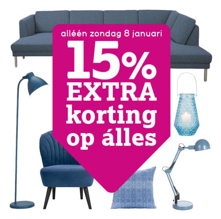 15% korting op alles alleen dit weekend @ Leen Bakker