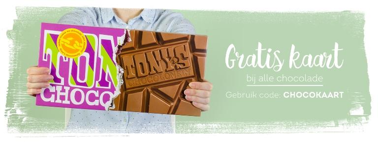 Gratis kaart bij alle chocolade @greetz