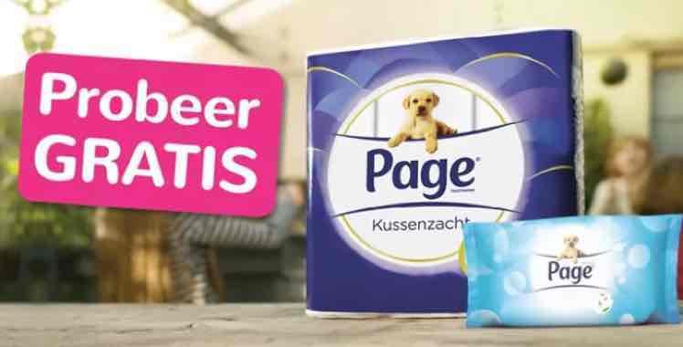 Gratis Page Kussenzacht en Page Vochtig toiletpapier