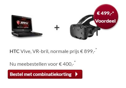 MSI GT83VR laptop voor €2999 (HTC Vive meebestellen voor €400) @ Alternate