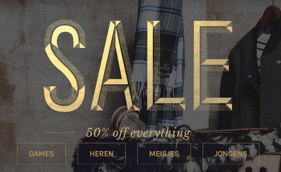 Alles in de sale met 50% korting @ Scotch & Soda (gratis verzending)
