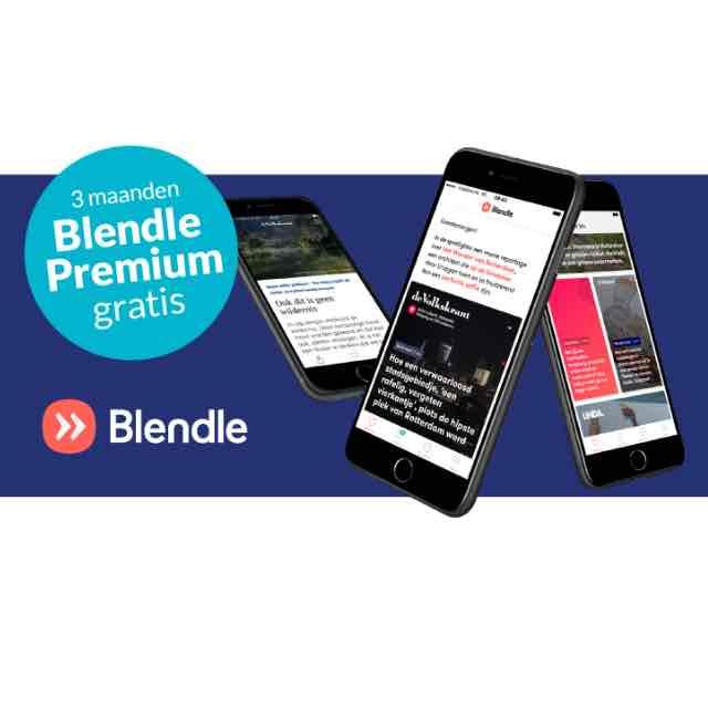 3 maanden gratis Blendle Premium voor Essent klanten!