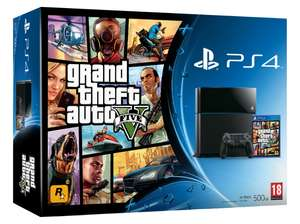 PlayStation 4 Console (500 GB) + Grand Theft Auto V (GTA 5) voor €388 @ Nedgame