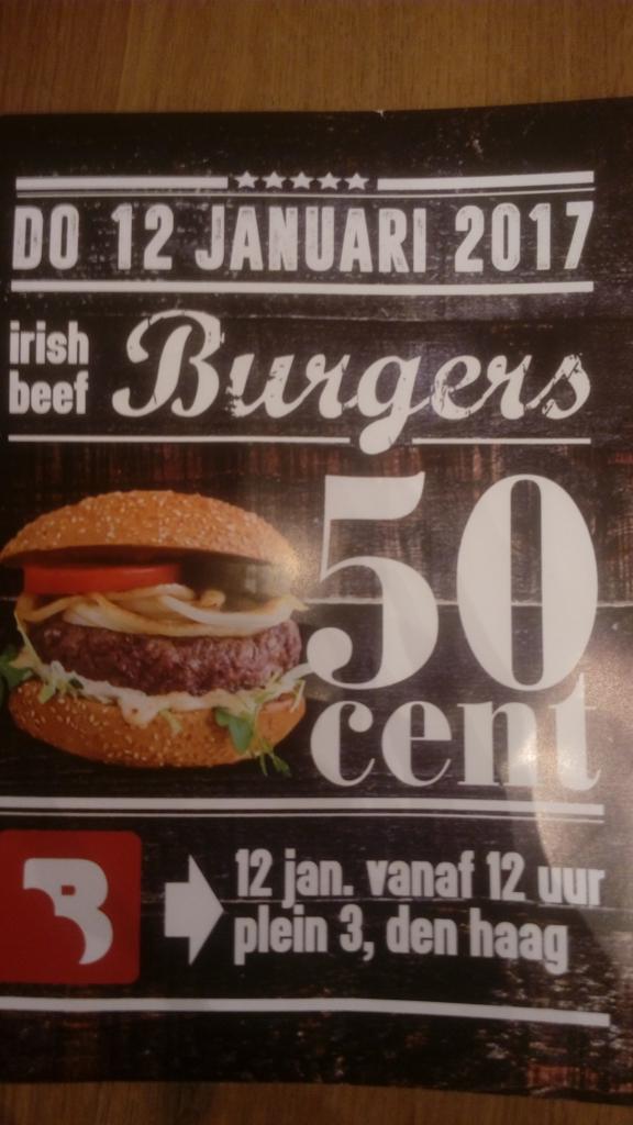 burgers 50cent @ opening burgers den haag