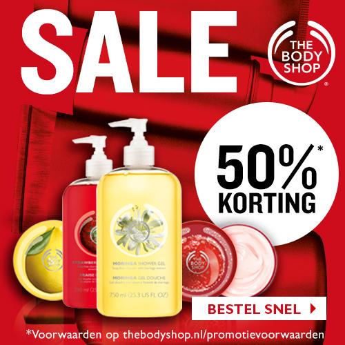 50% Korting op het gehele SALE assortiment @ The Body Shop