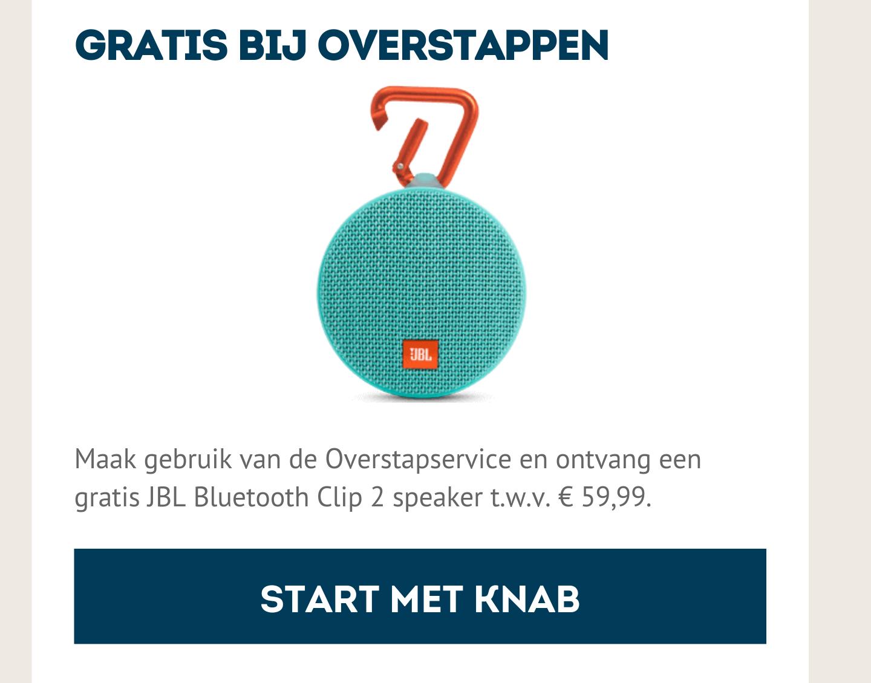 Gratis JBL Bluetooth Clip 2 speaker bij overstappen @ Knab