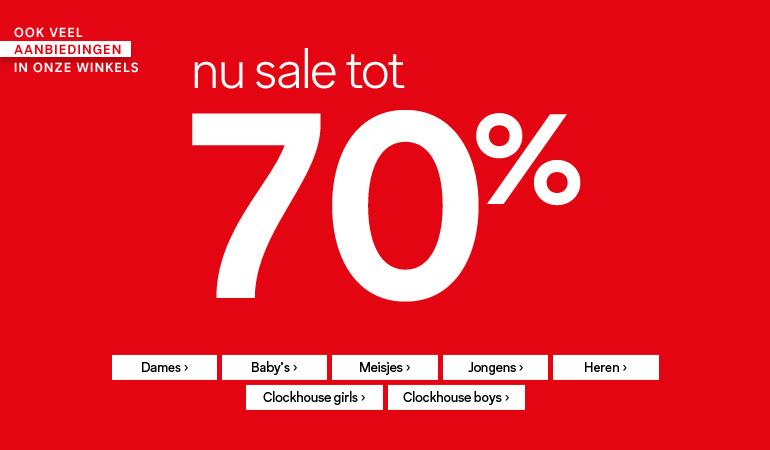 Tot 70% korting in de sale + 10% extra @ C&A