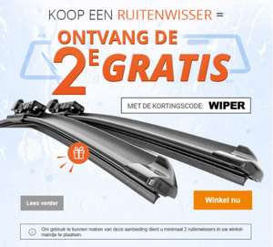 50% korting op alle Ruitenwissers @MisterAuto o.a. Bosch, Valeo