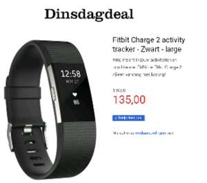 Fitbit charge 2 alle kleuren 135 euro incl.